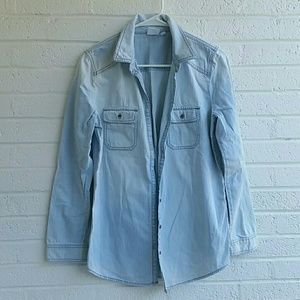 BP Nordstrom Button Down Chambray Top